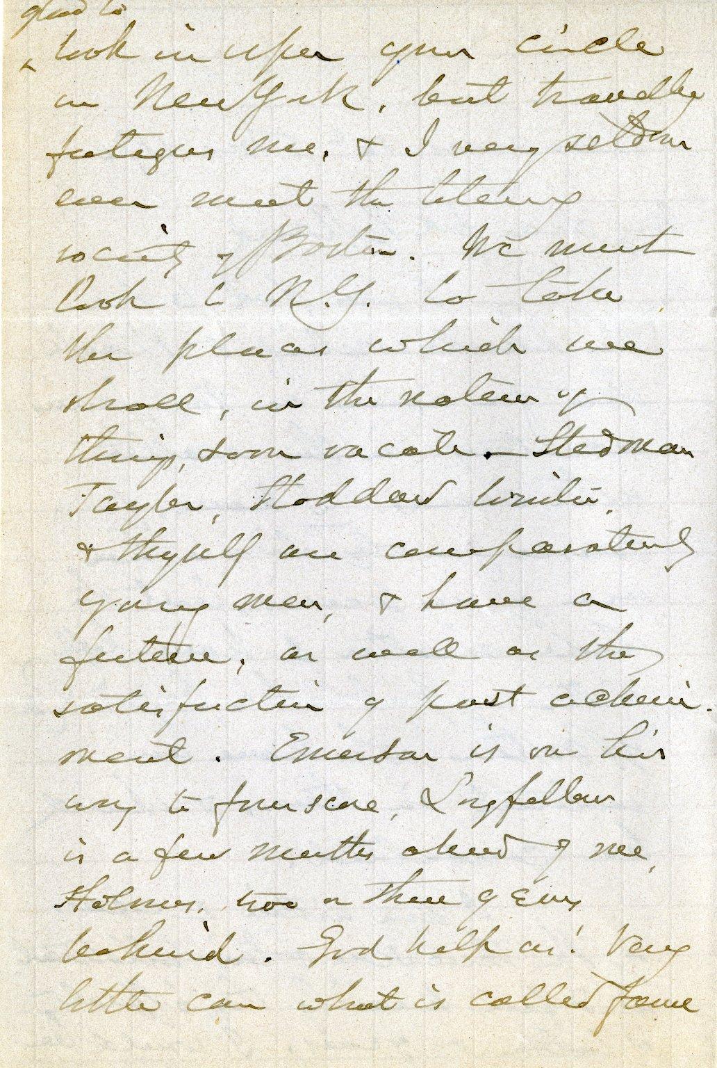 Whittier, John Greenleaf. ALS, 3 pages, March 16, 1876.