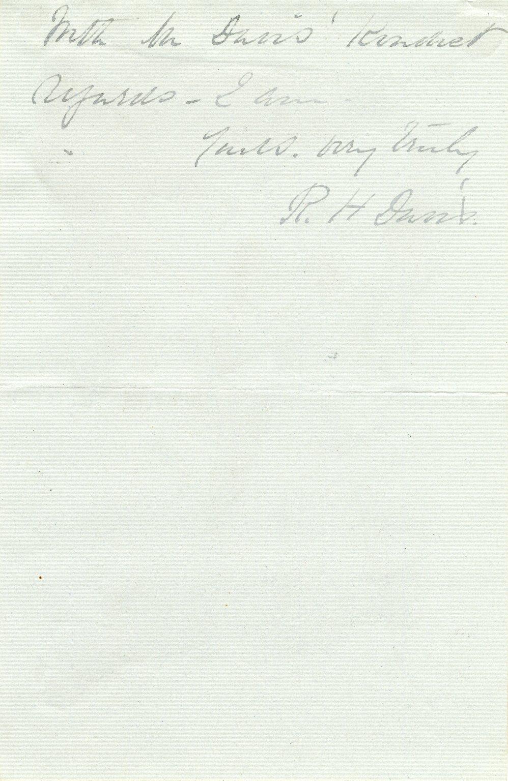 Davis, Rebecca Harding. ALS, 2 1/2 pages, [March 23].