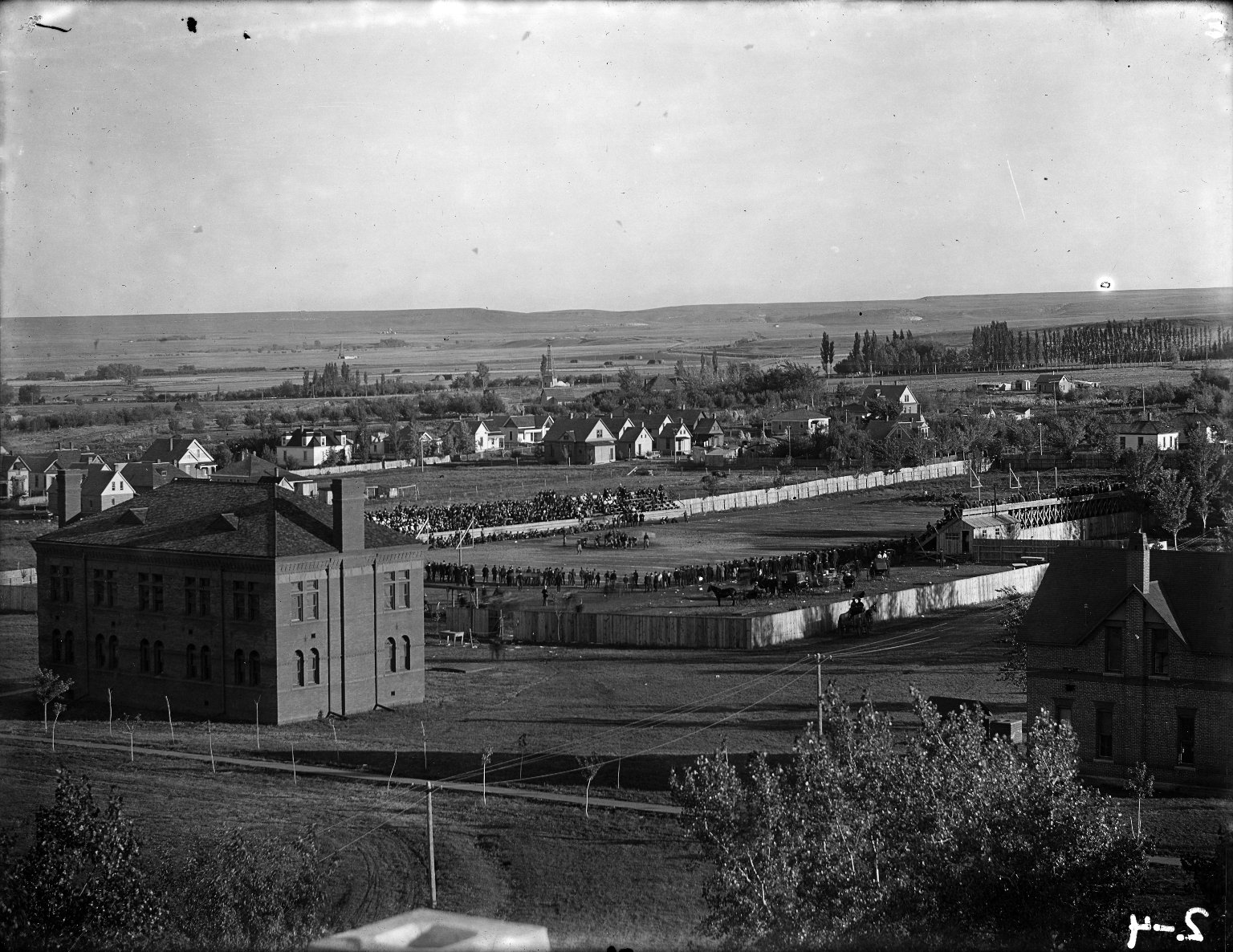 Athletic Field 1902 Nebraska game from Main roof A