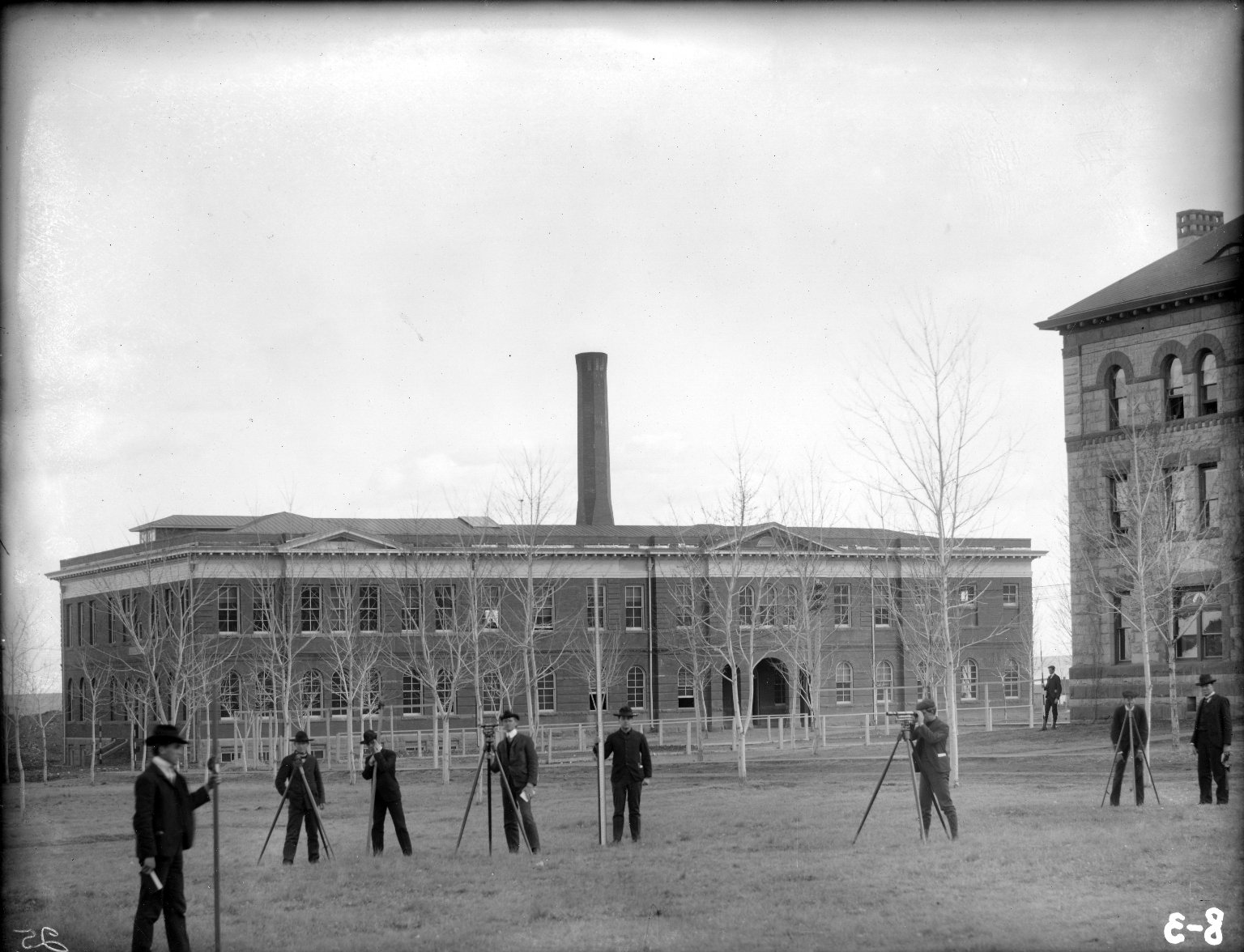 Engineering Building, surveying squad 1904