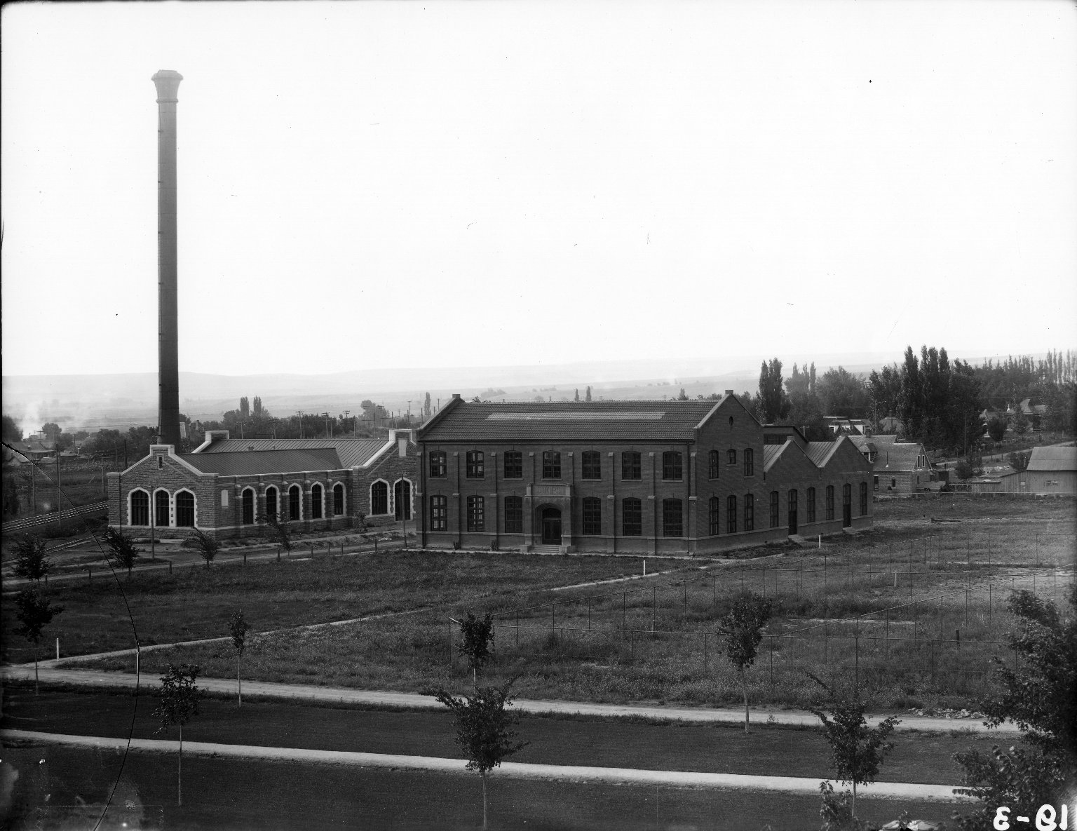 Heating Plant and Shops from Eng. Roof 1911