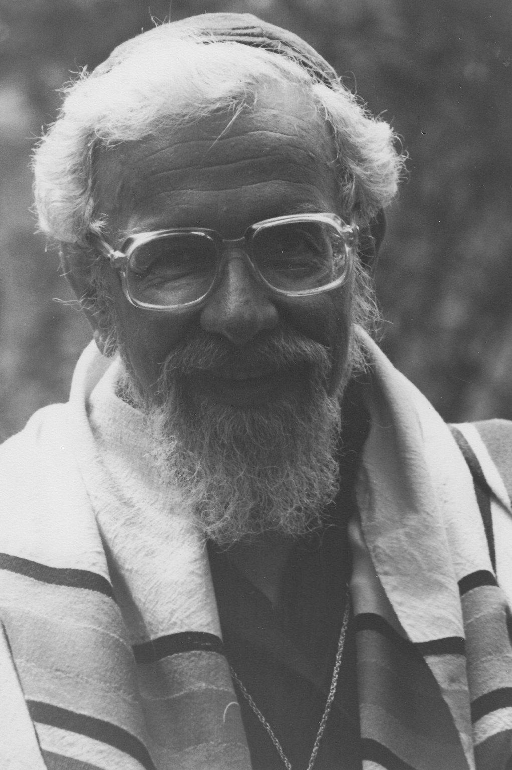Rabbi Zalman Schachter-Shalomi with tallit, ca. 1980s.