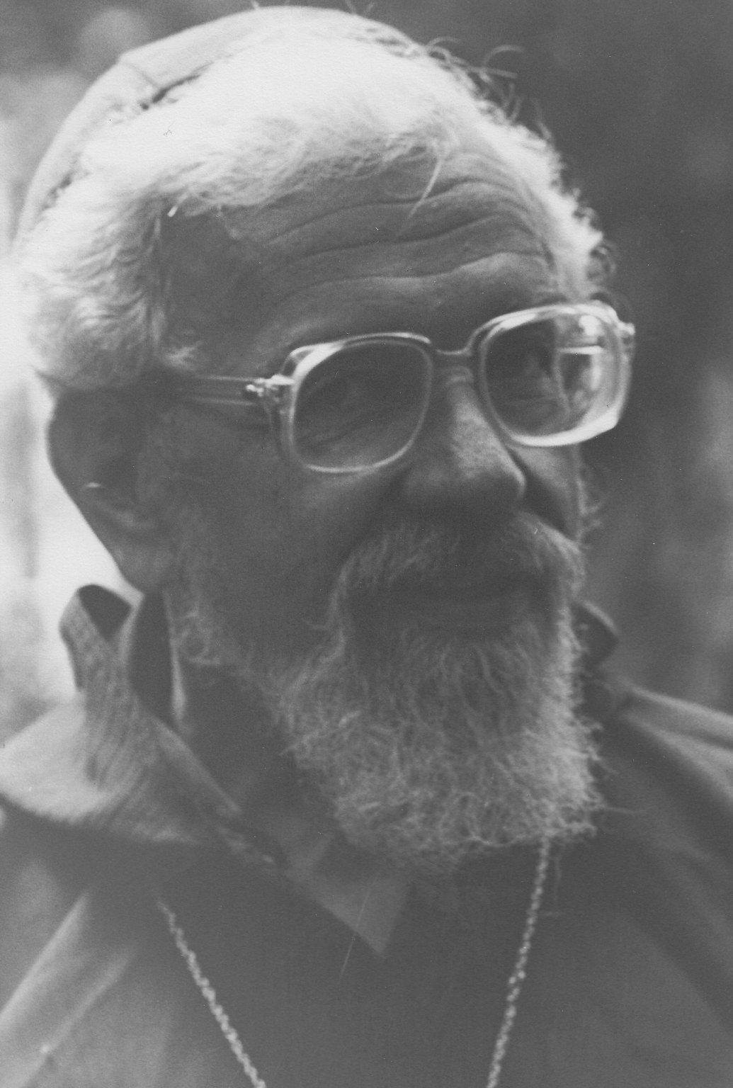 Rabbi Zalman Schachter-Shalomi in sheikh's robe, ca. 1980s.