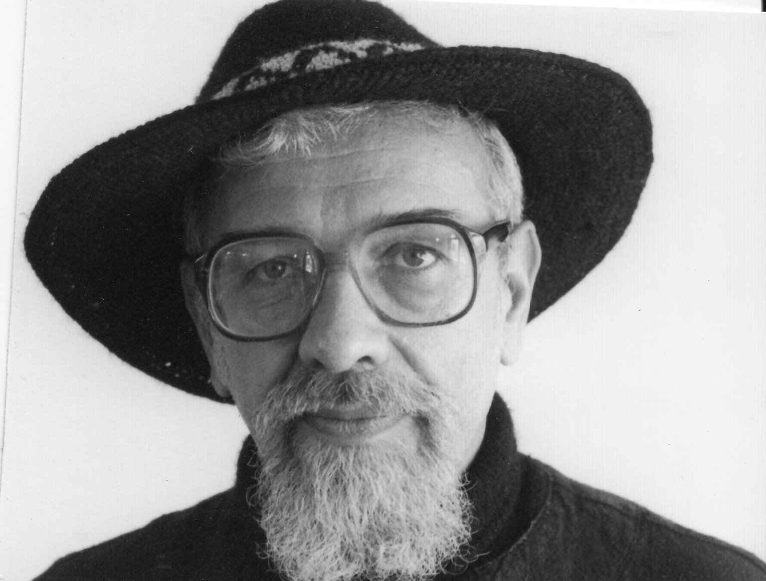 Rabbi Zalman Schachter-Shalomi in wide-brimmed hat, mid to late 1980s.