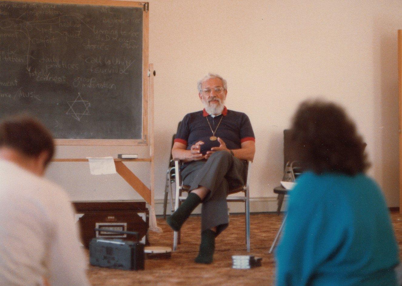 Rabbi Zalman Schachter-Shalomi teaching, 1987.