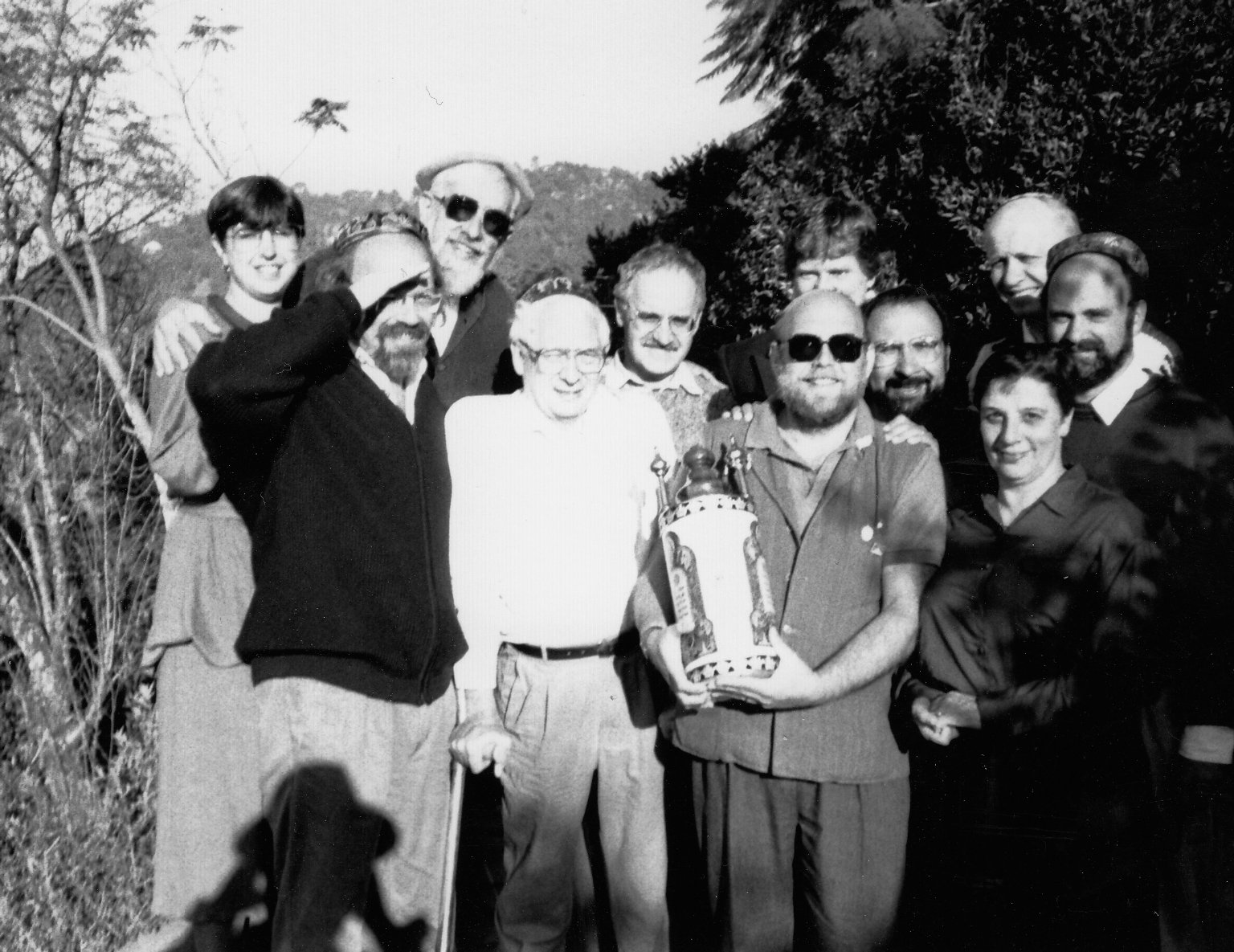 Participants in the 'Jew in the Lotus' Dialogues, Fall 1990.