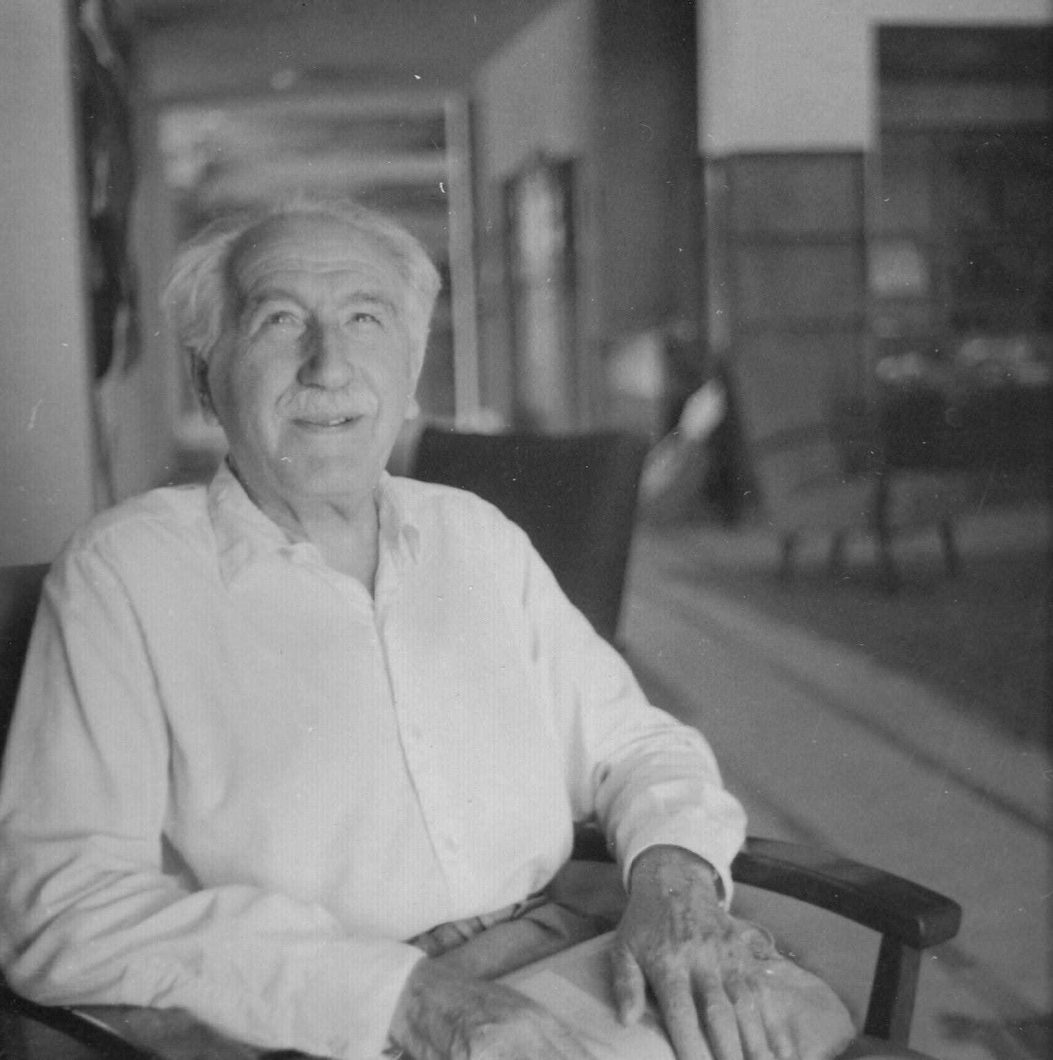 Dr. Shmuel Hugo Bergman, Professor of Philosophy at the Hebrew University, ca. 1958.