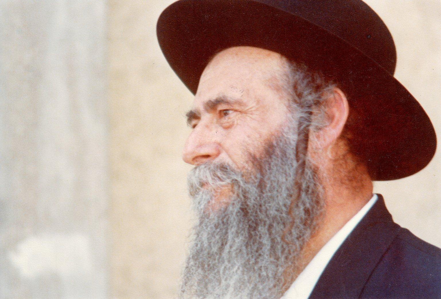 Rabbi Gedaliah Kenig, ca. 1982.