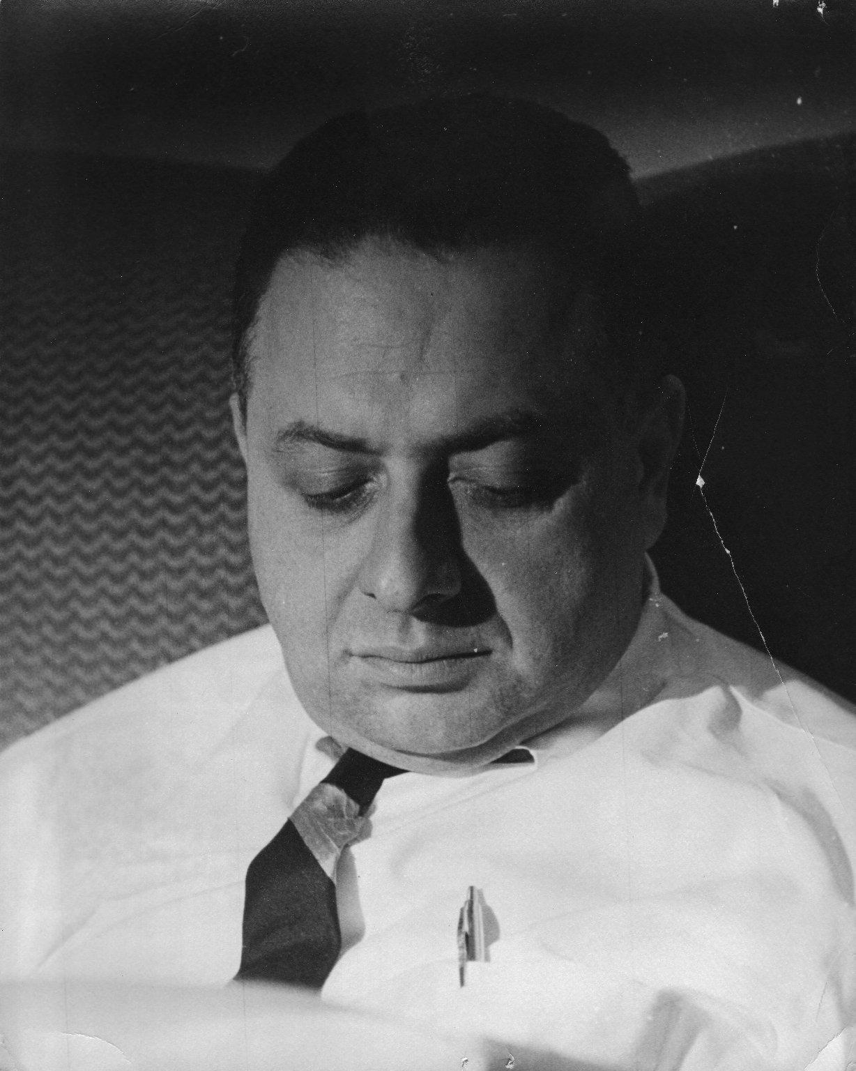 Rabbi Arnold Jacob Wolf, rabbi of Congregation Solel, in Highland Park, Illinois, ca. 1962.