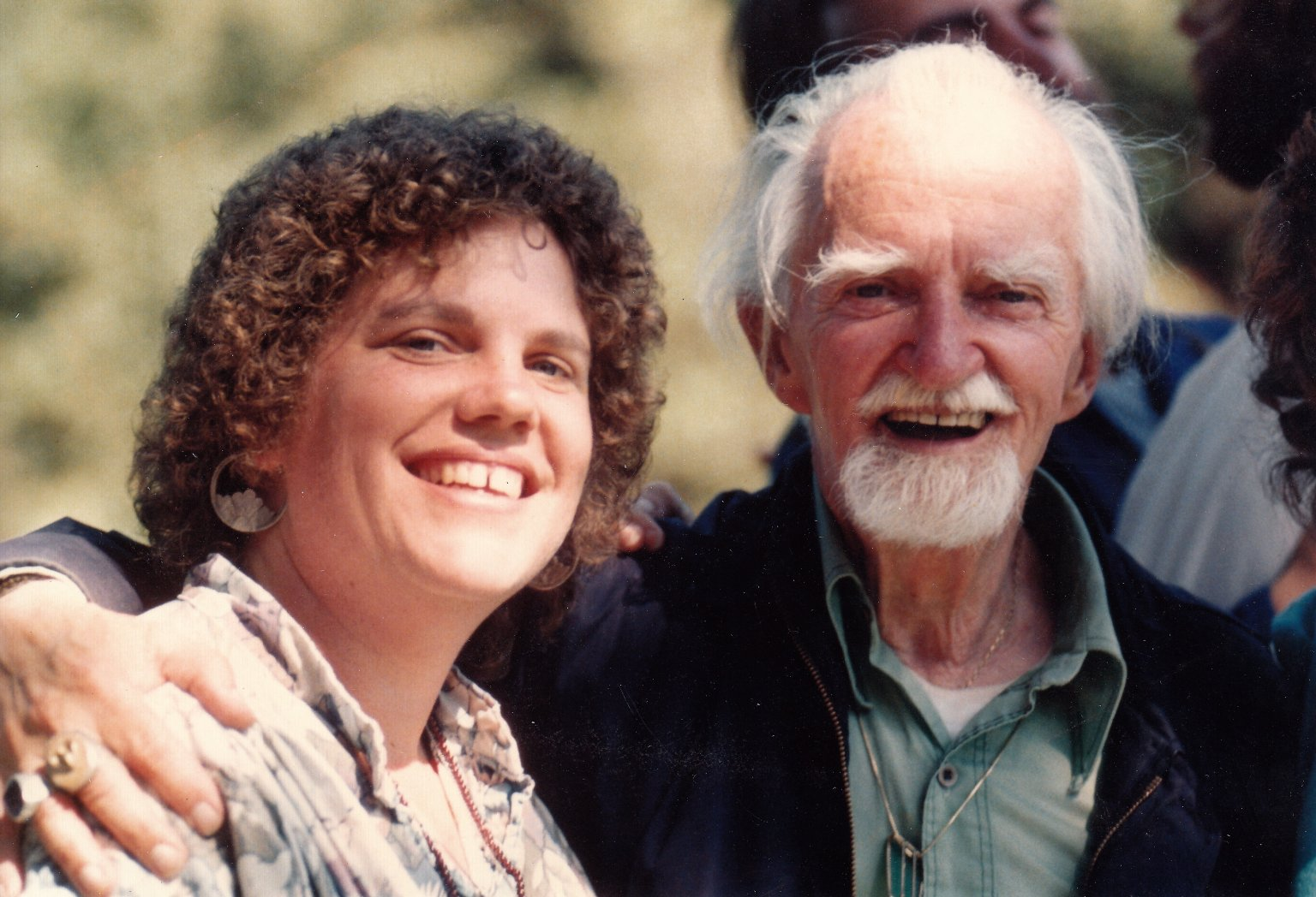 Counter-culture spiritual teacher, Joe Miller with an unidentified woman.