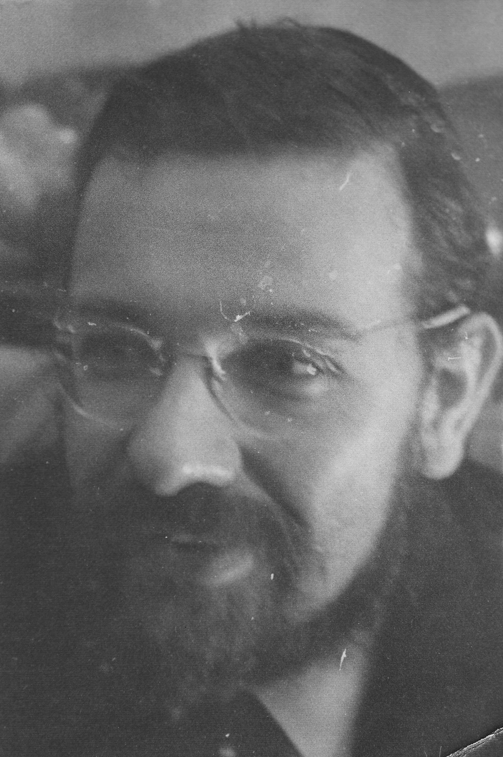 Close-up of Rabbi Zalman Schachter, ca. 1962.