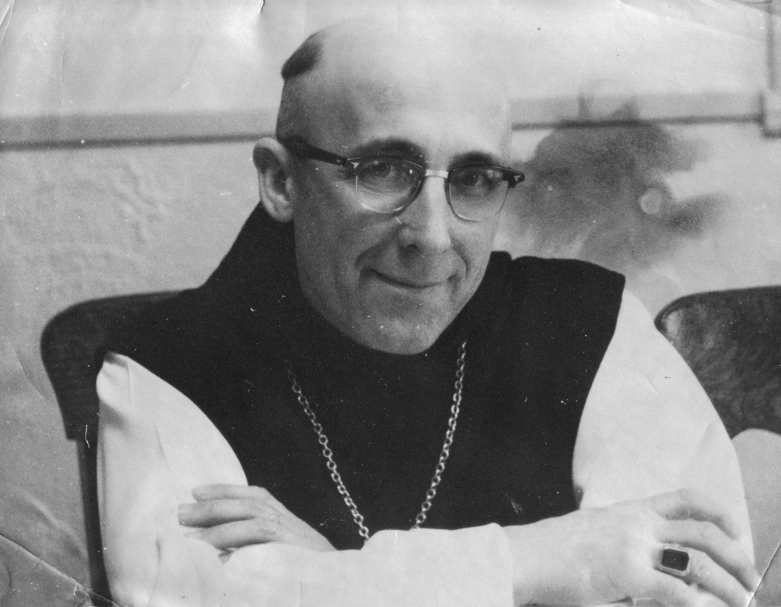 Dom Fulgence Fortier, abbott of Notre Dame Des Praries, a Cistercian monastery in St. Norbert's, Manitoba, Canada, 1955-1969.