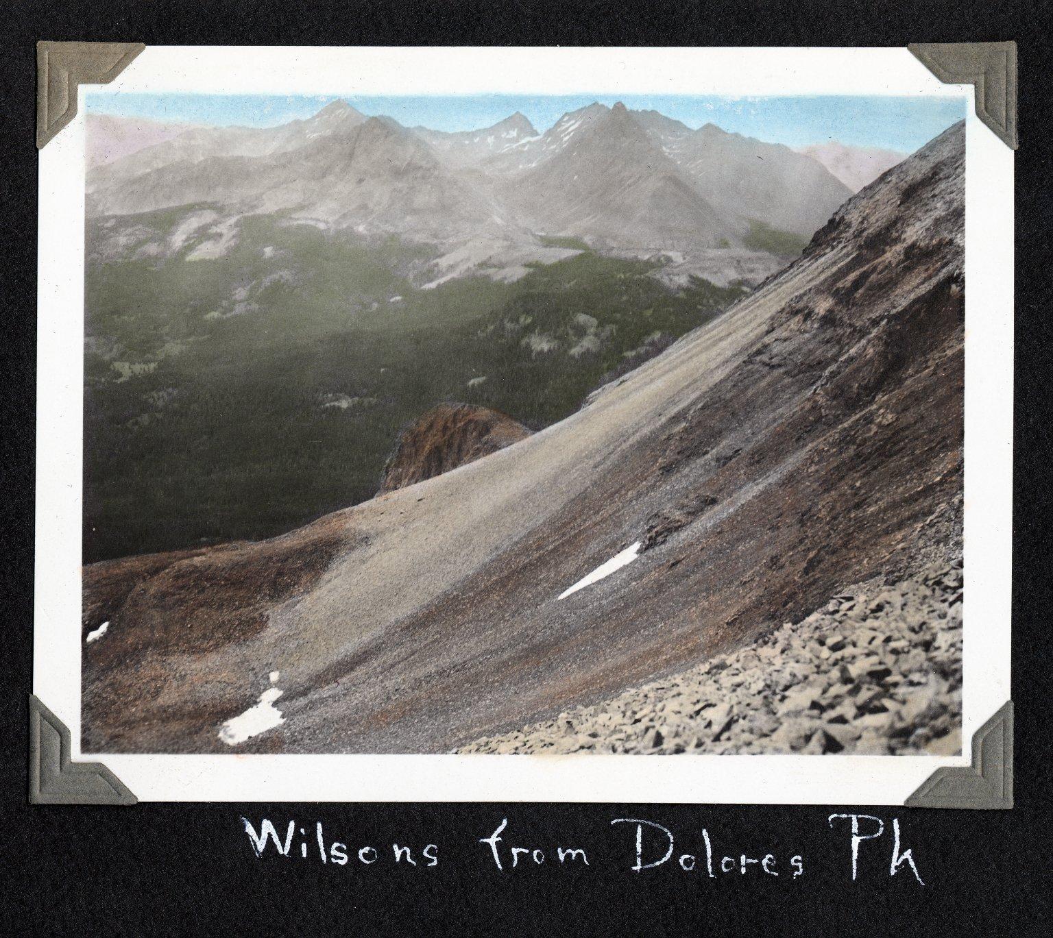 Wilsons from Dolores Peak, 1