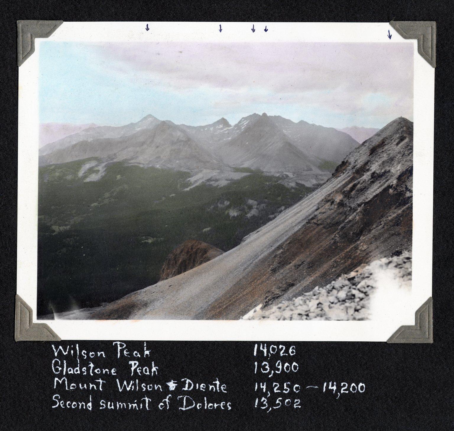 Wilsons from Dolores Peak, 2