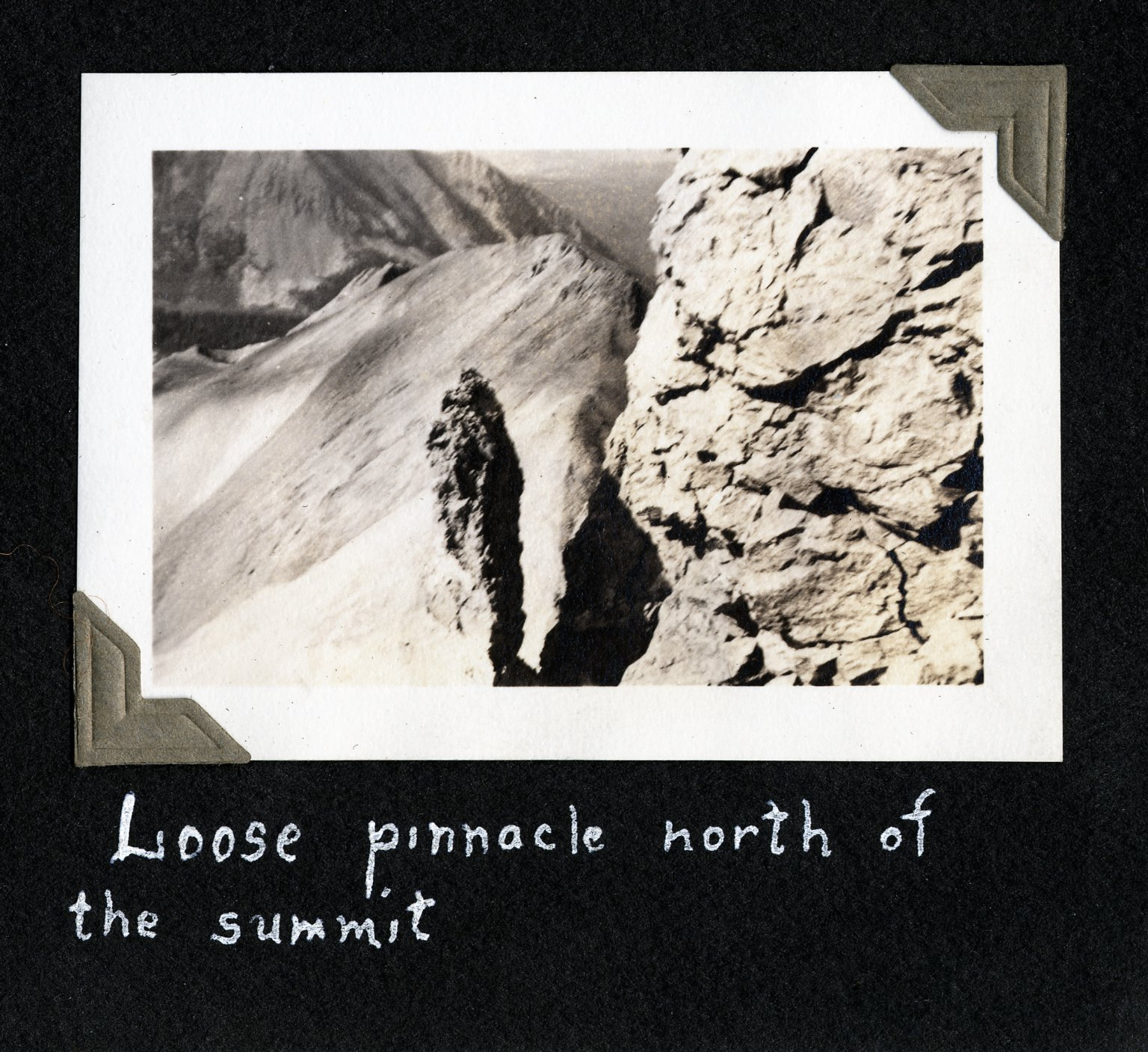 Loose Pinnacle North of the Summit