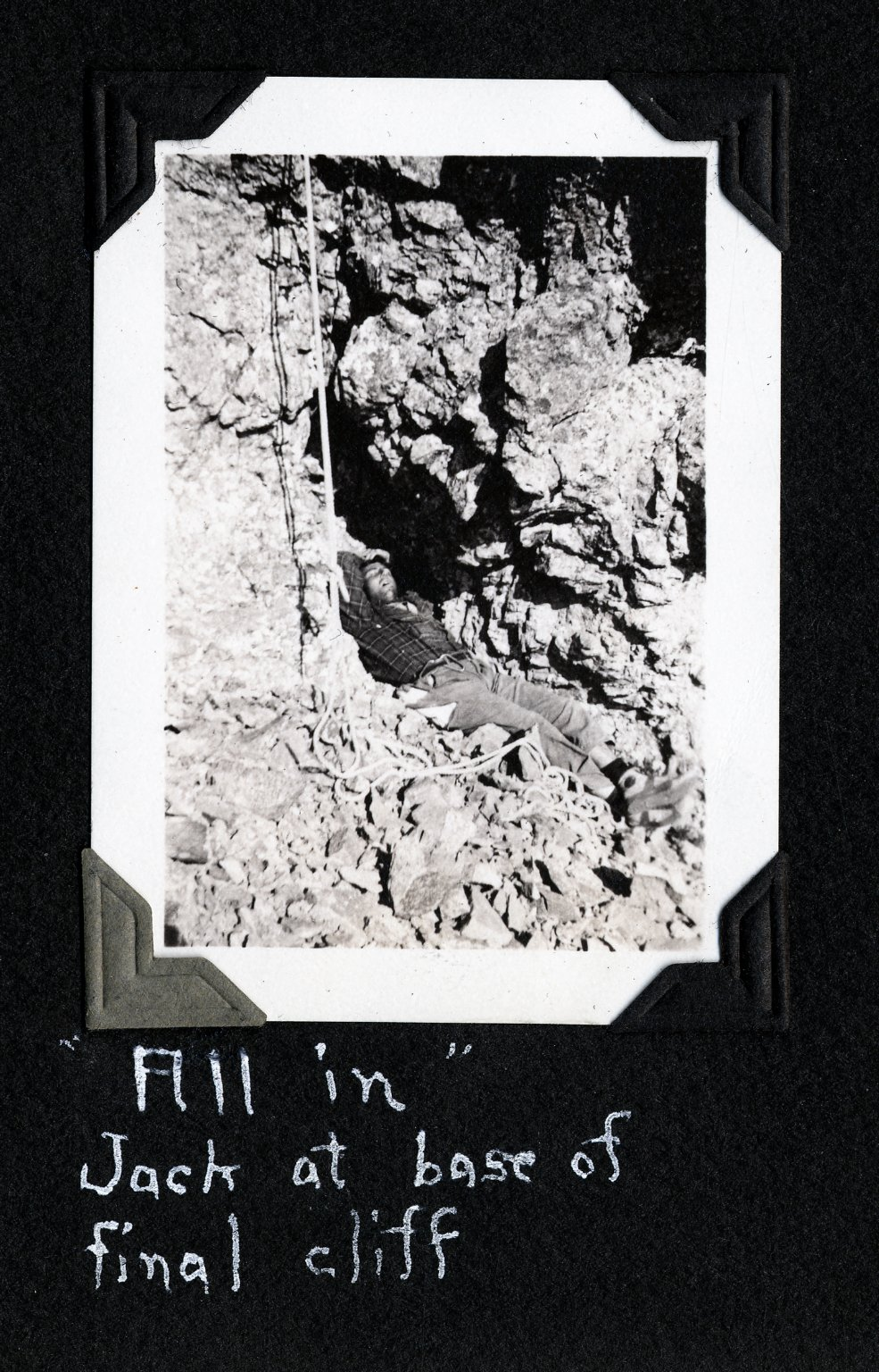 """Fill in"" Jack at Base of Final Cliff"