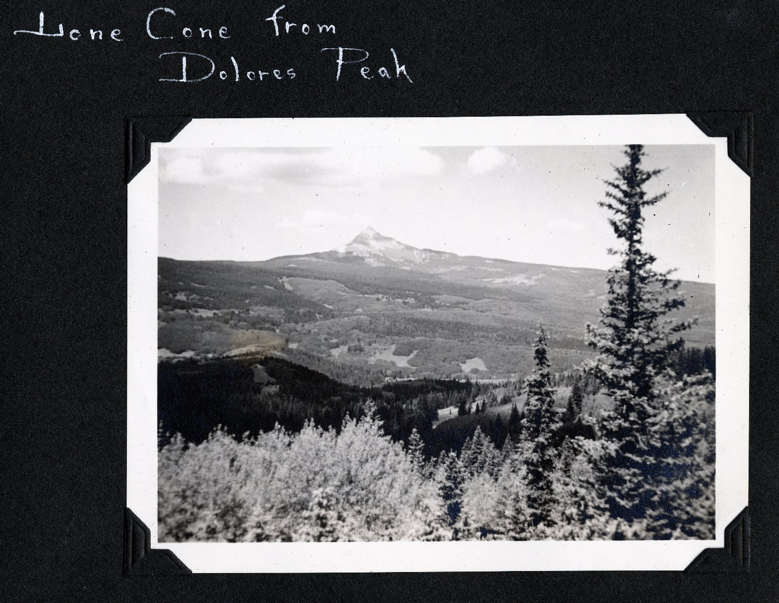 Lone Cone from Dolores Peak, 2