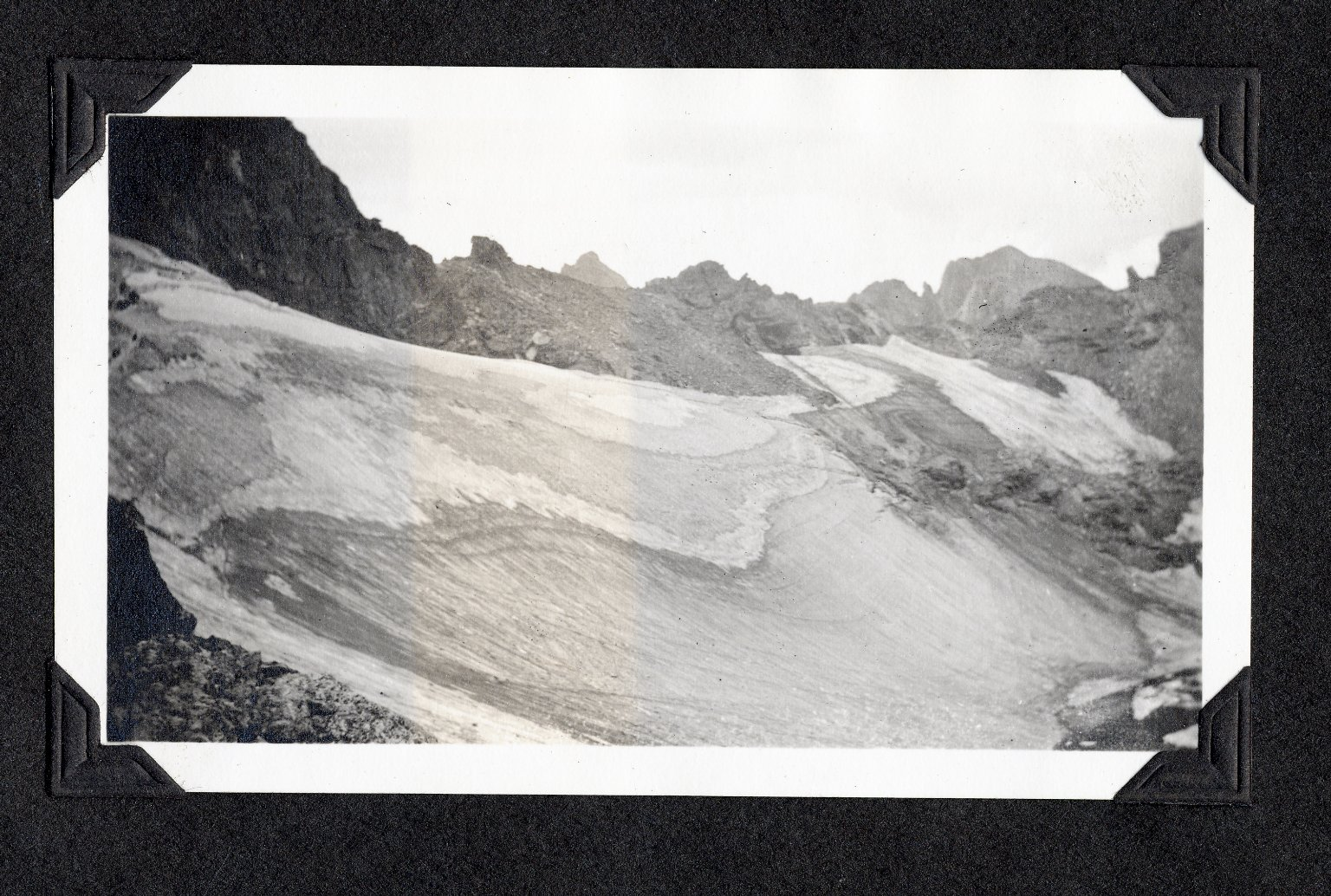 Glacier and ridgeline