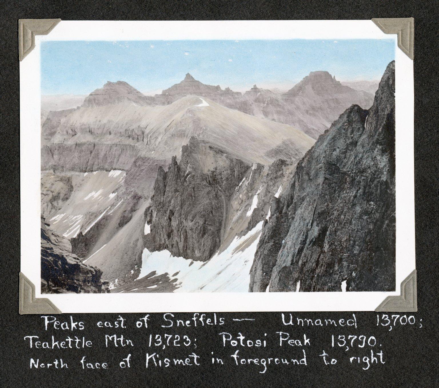 Peaks east of Sneffels