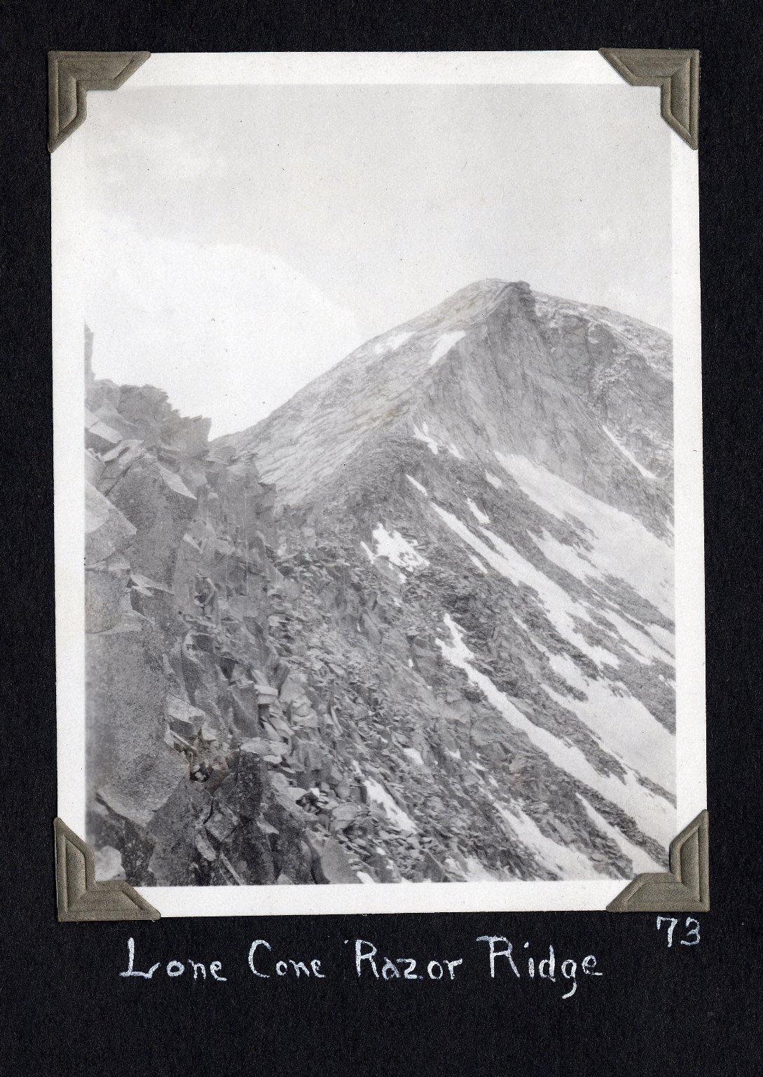 Lone Cone Razor Ridge