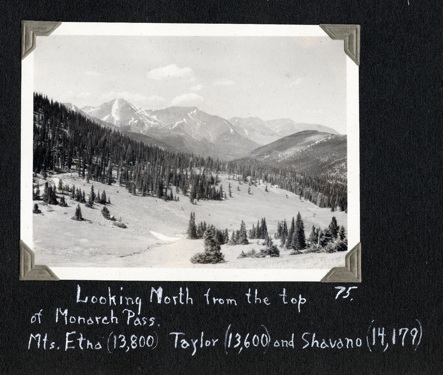 Looking north from top of Monarch Pass