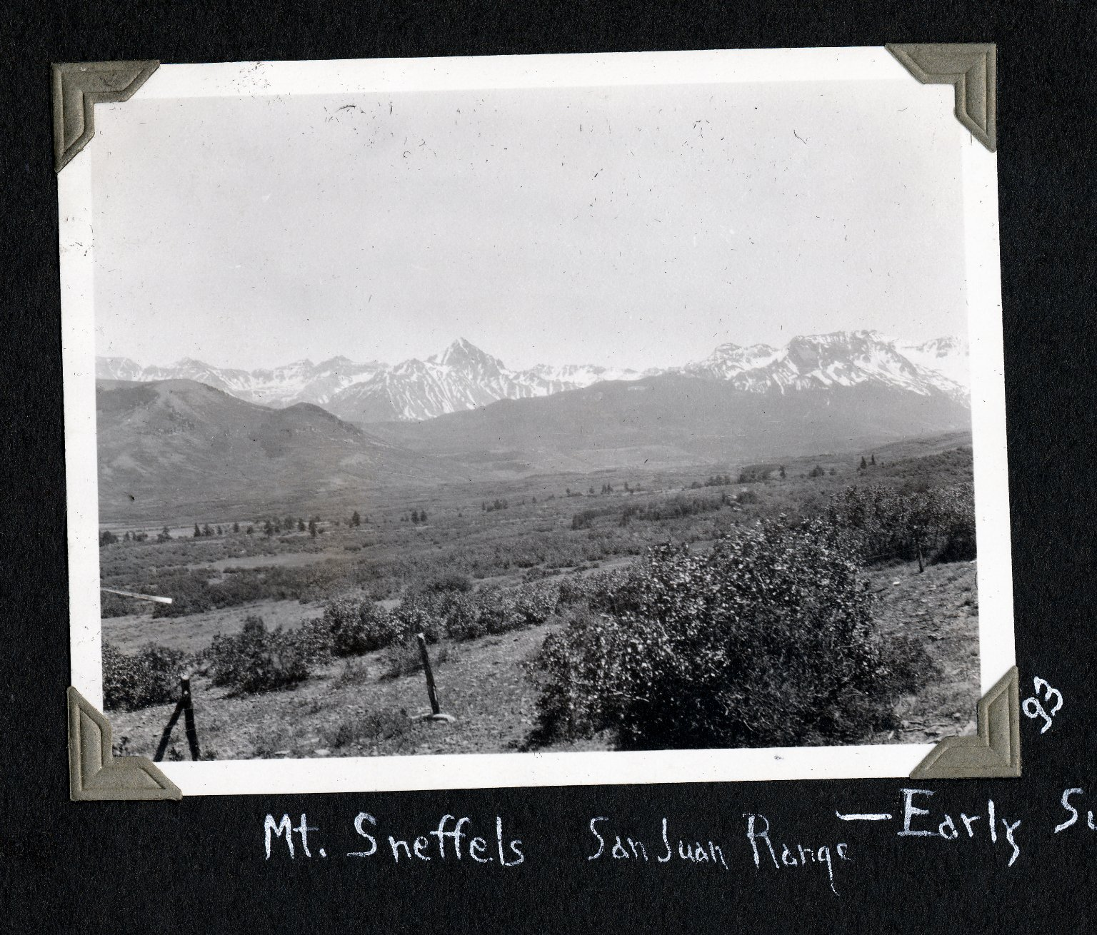 Mount Sneffels and San Juan Range