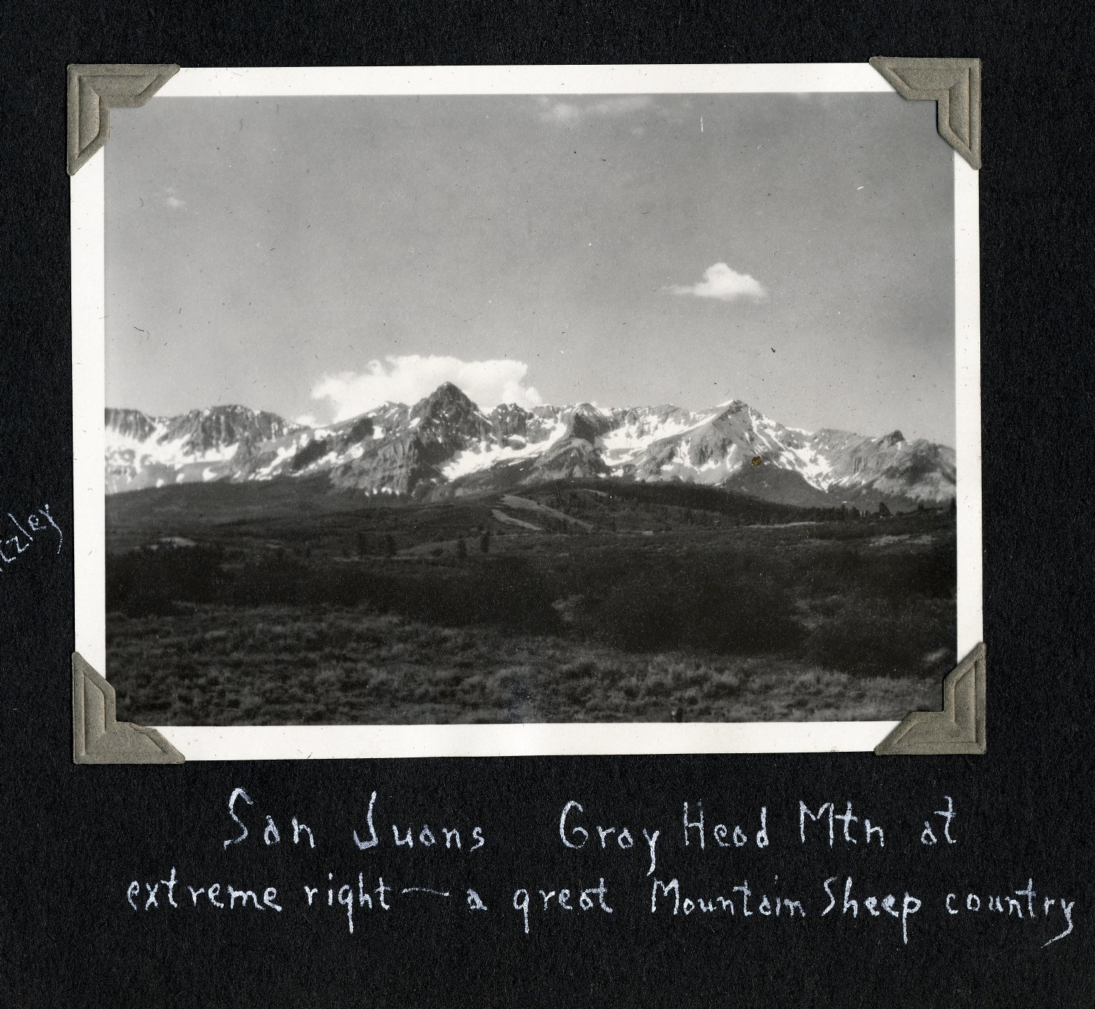 San Juan Mountains and Gray Head Peak