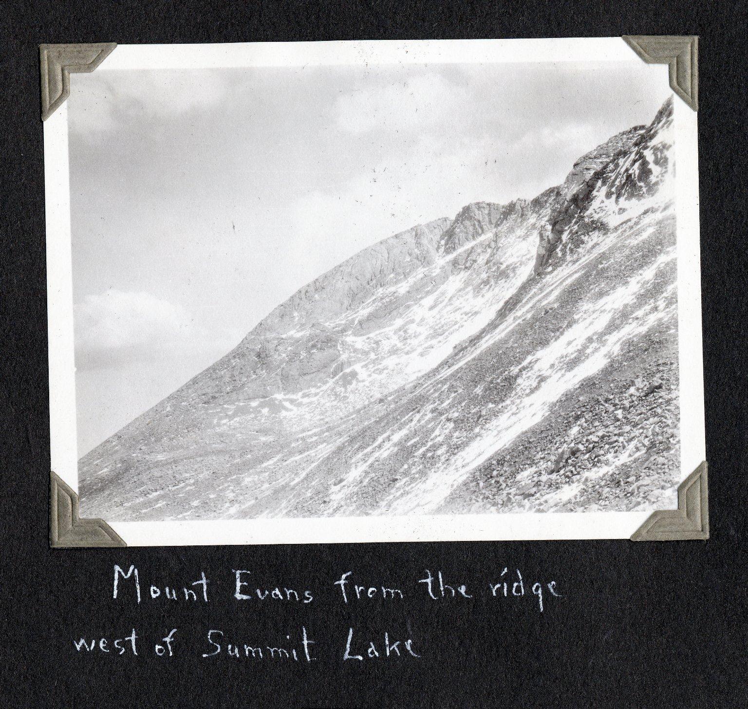 Mount Evans from ridge west of Summit Lake