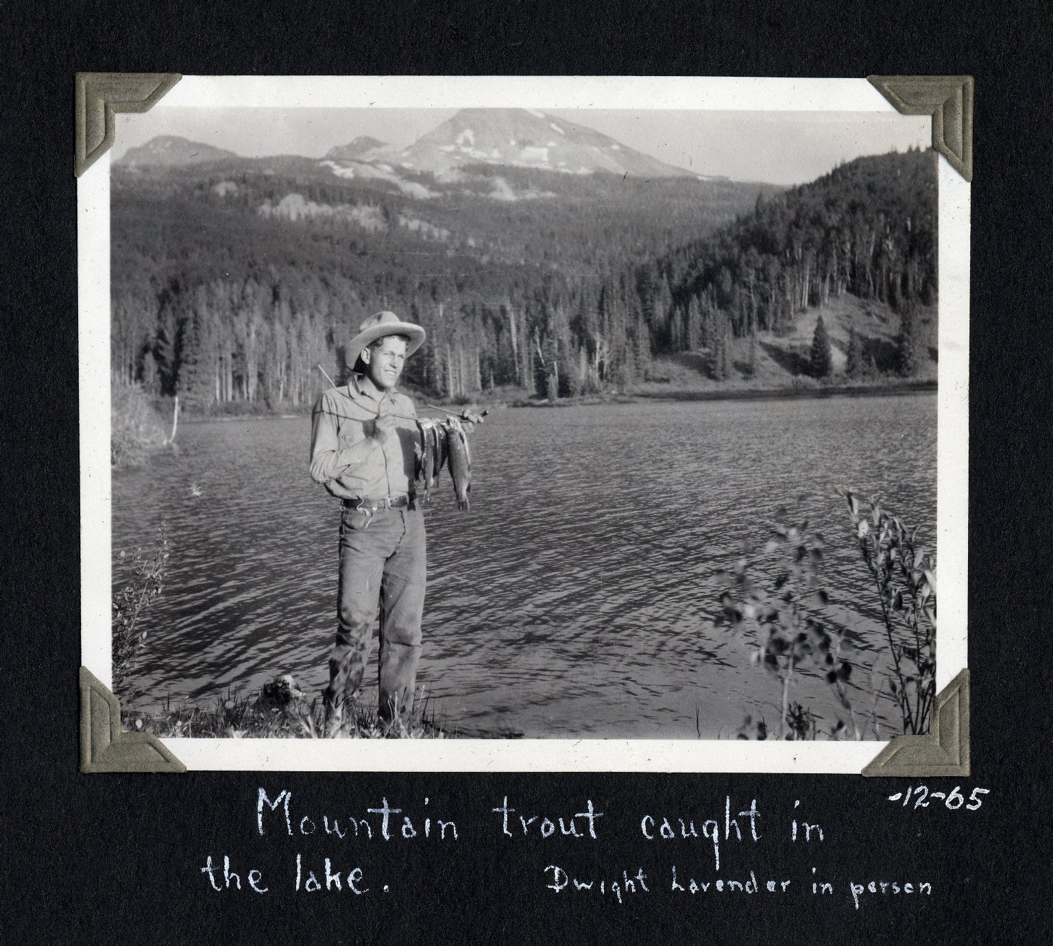Dwight at Woods Lake, holding trout