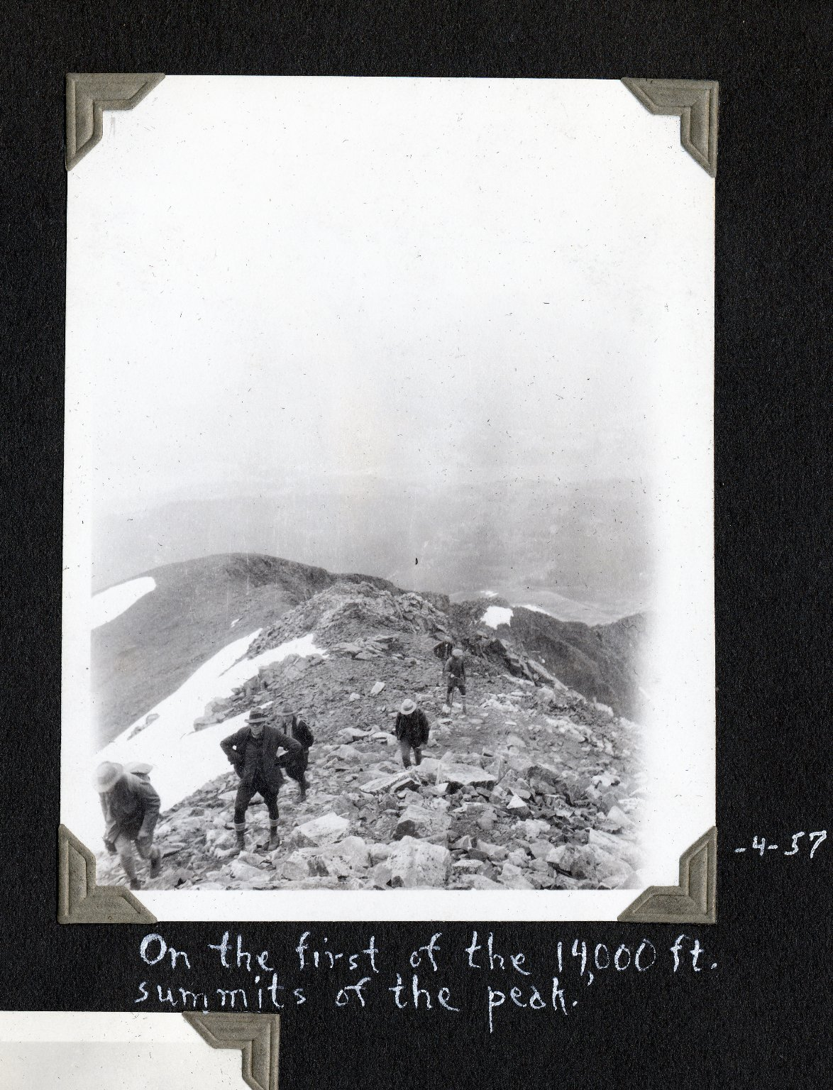 On the first summit of Mount Wilson