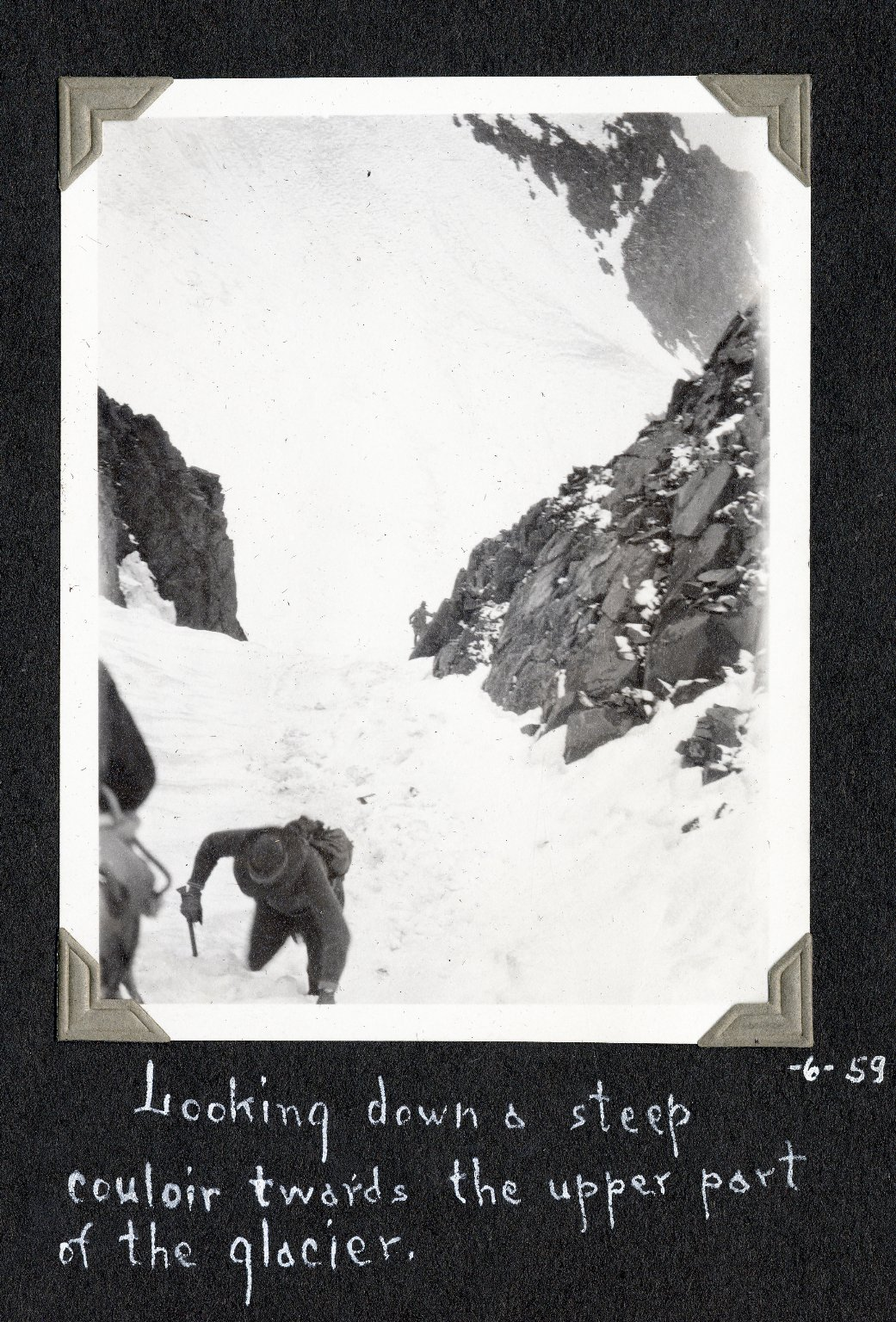 Steep couloir at Killpacker Glacer