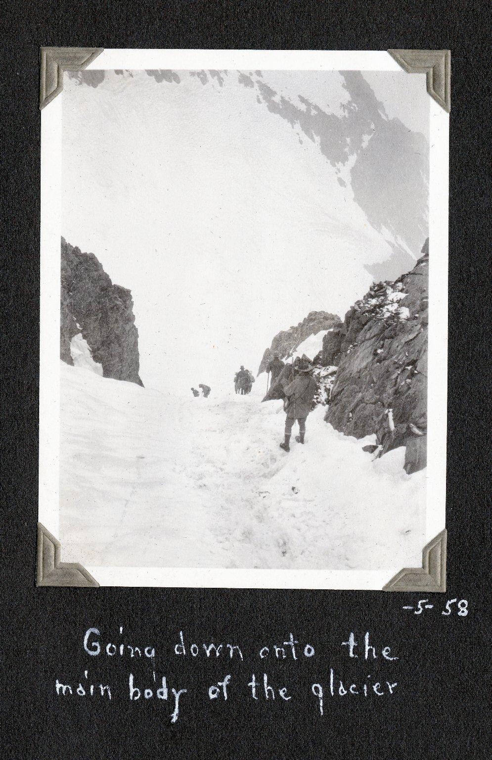 Going onto Killpacker Glacier
