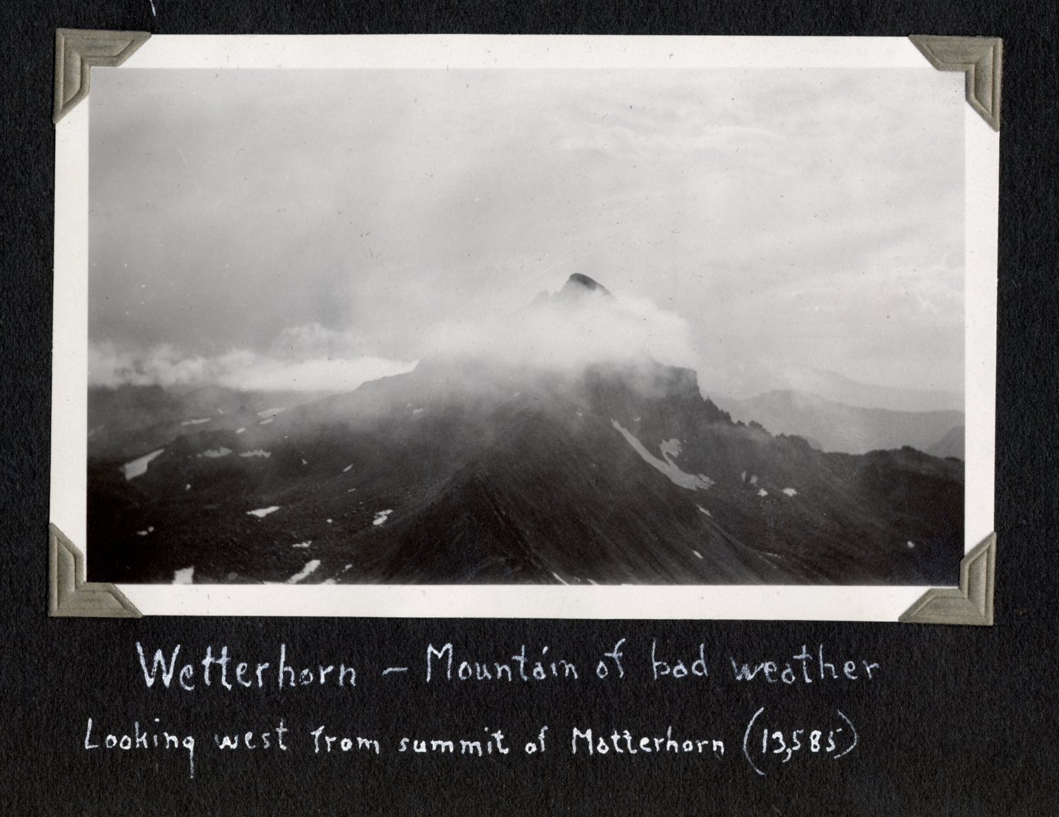 Wetterhorn Peak, seen from Matterhorn summit