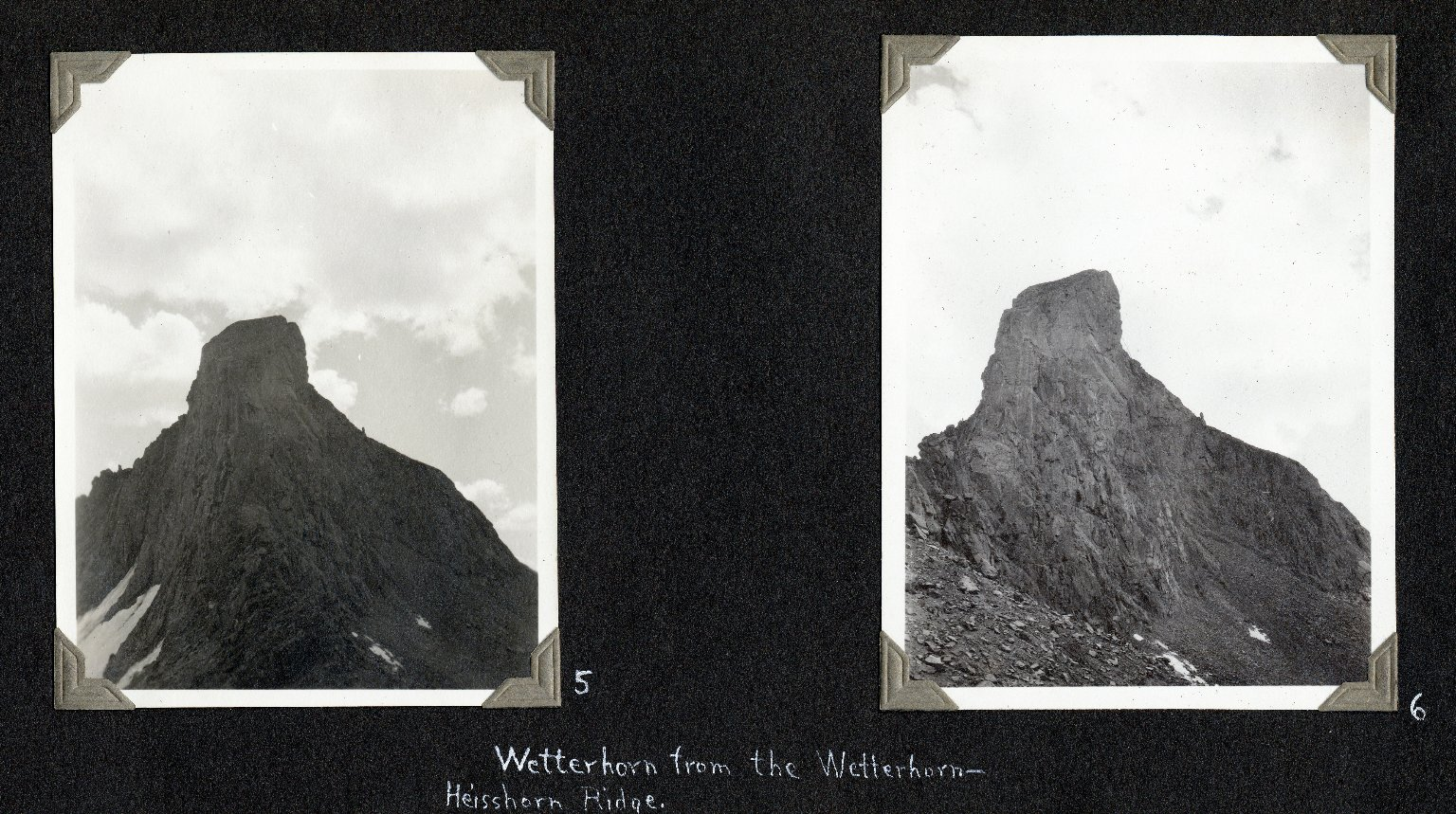 Wetterhorn Peak, seen from Wetterhorn-Heisshorn ridge