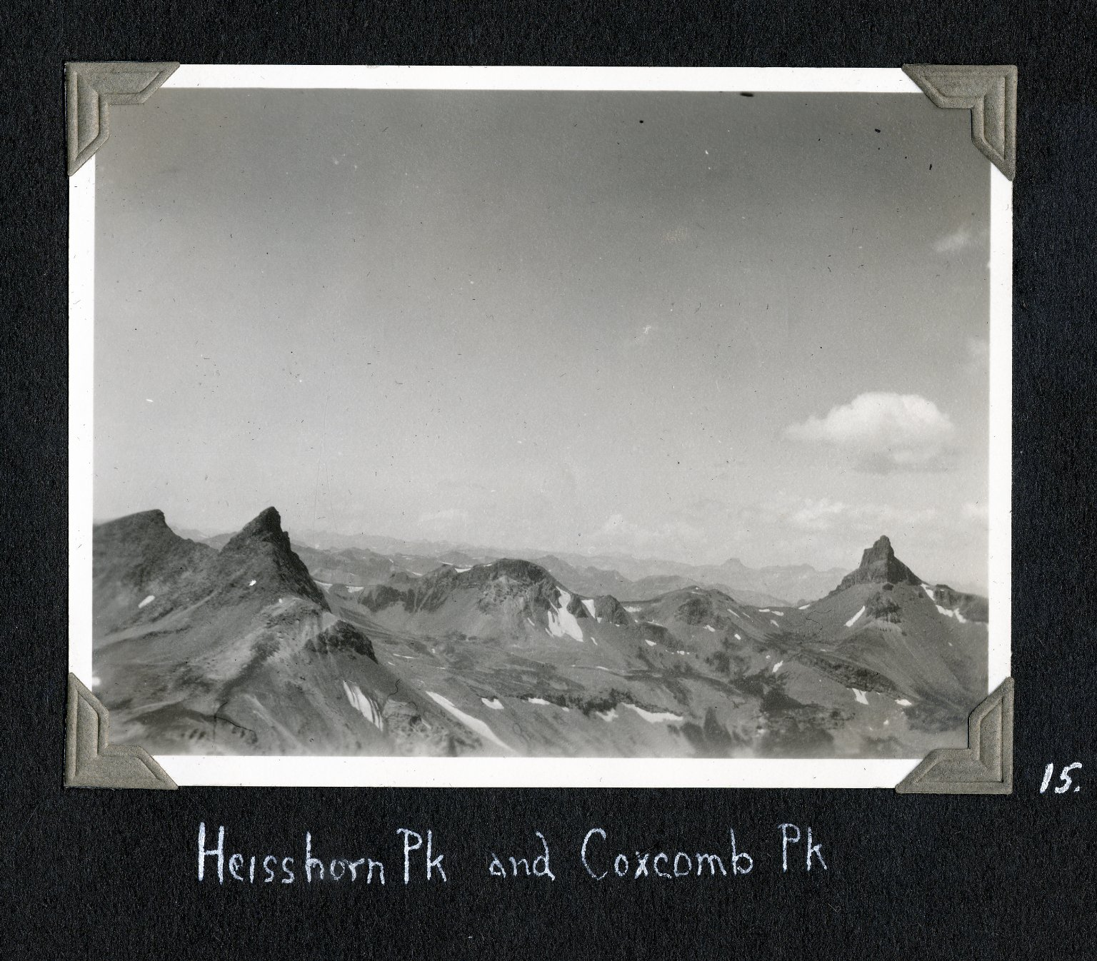Heisshorn Peak and Coxcomb Peak