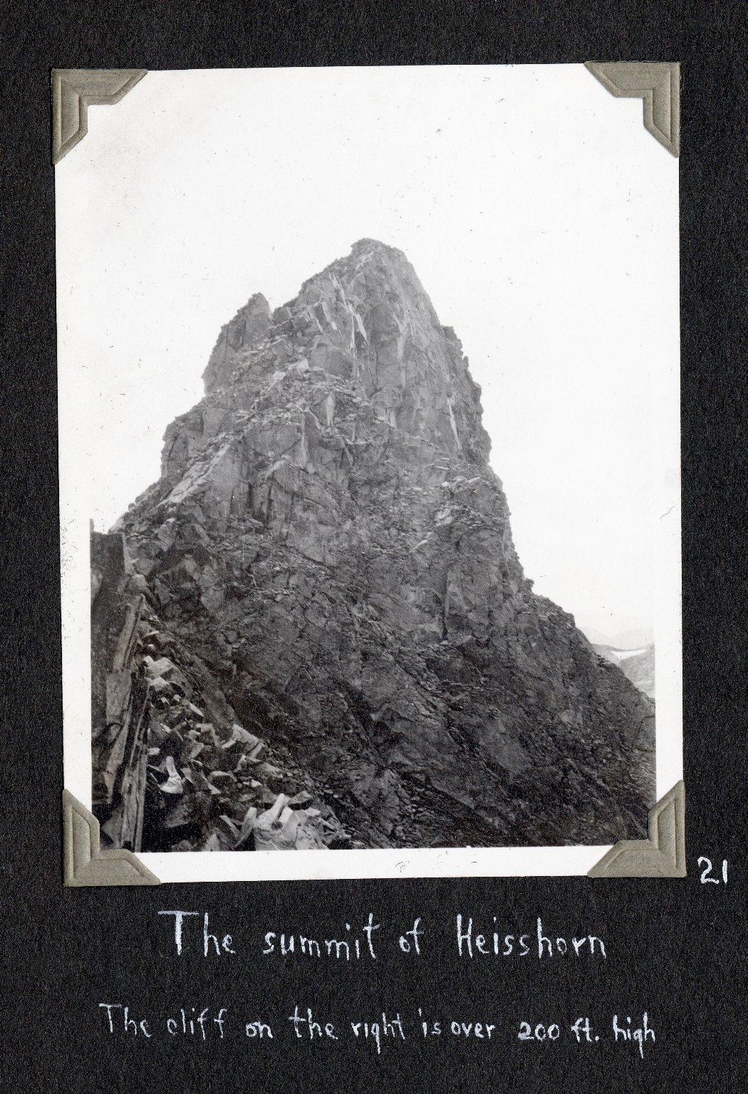 The summit of Heisshorn Peak