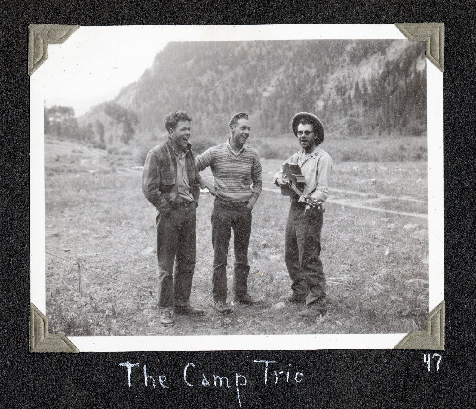 The camp trio: David Lavender, Harris Haugh, Henry Buchtel