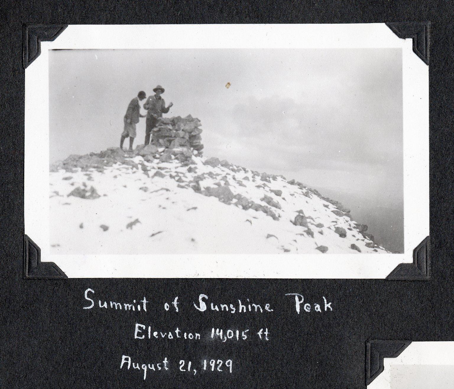 Summit of Sunshine Peak