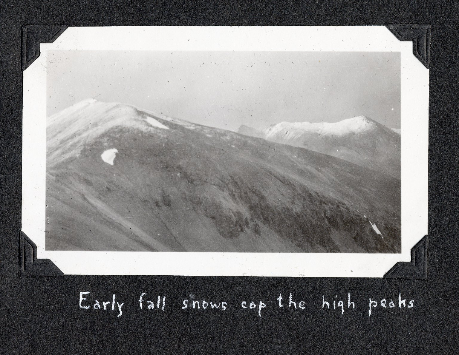 Early fall snows cap the high peaks