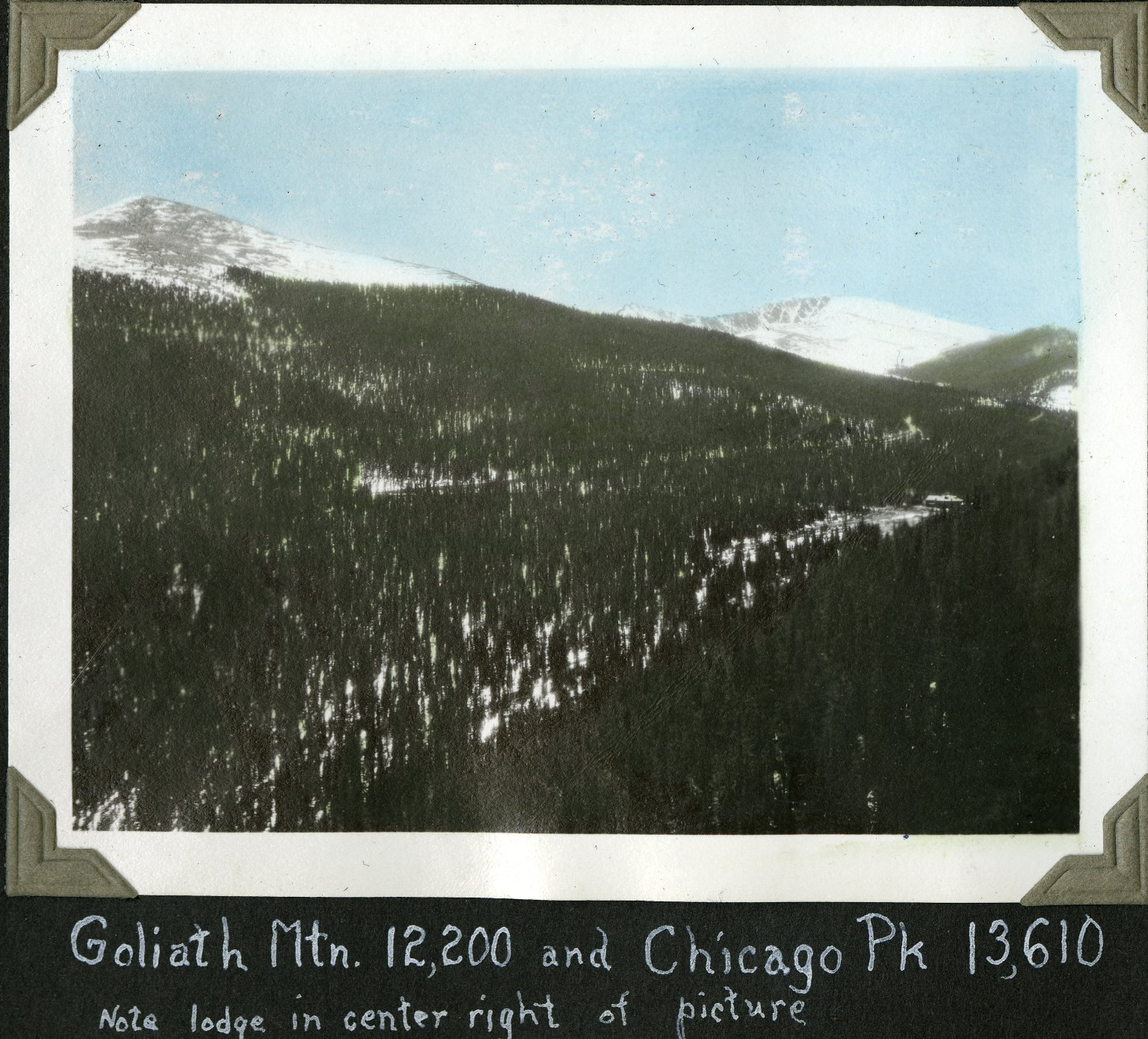 Goliath Peak and Chicago Peak