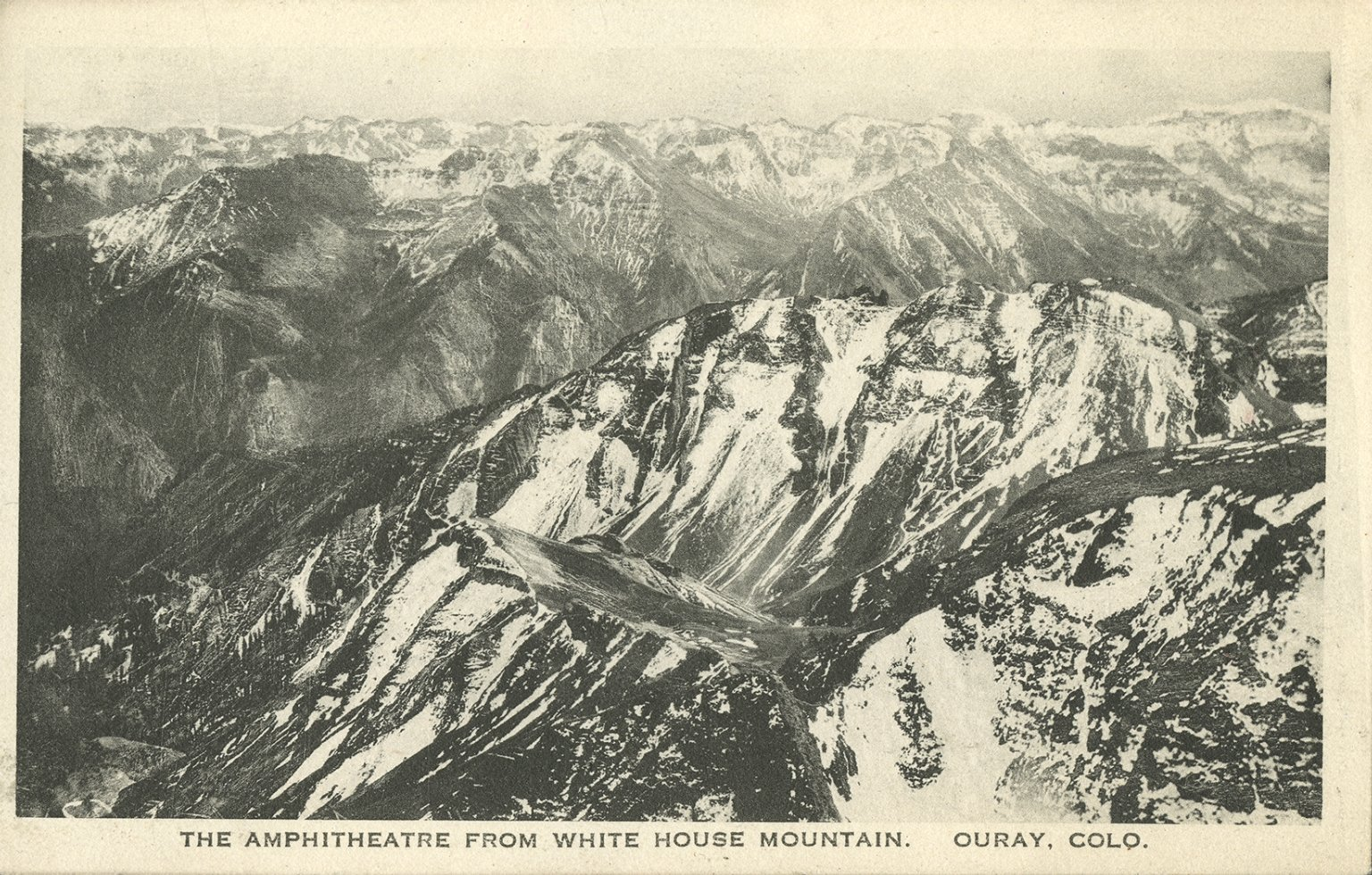 The amphitheatre from White House Mountain, Ouray, Colo.