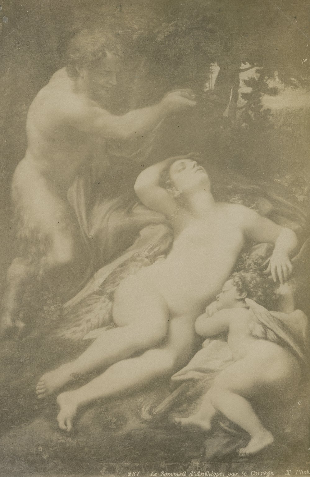 Venus and Cupid with a Satyr, by Correggio