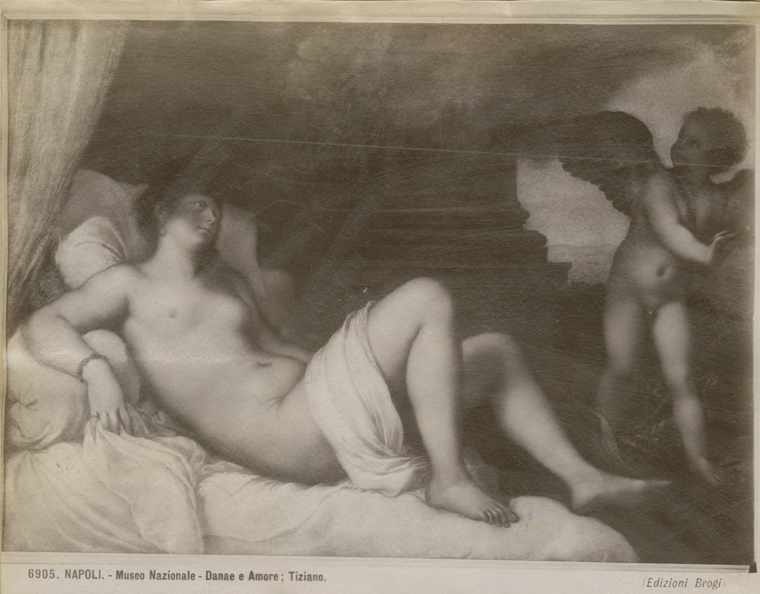 Danaë with Eros, by Titian