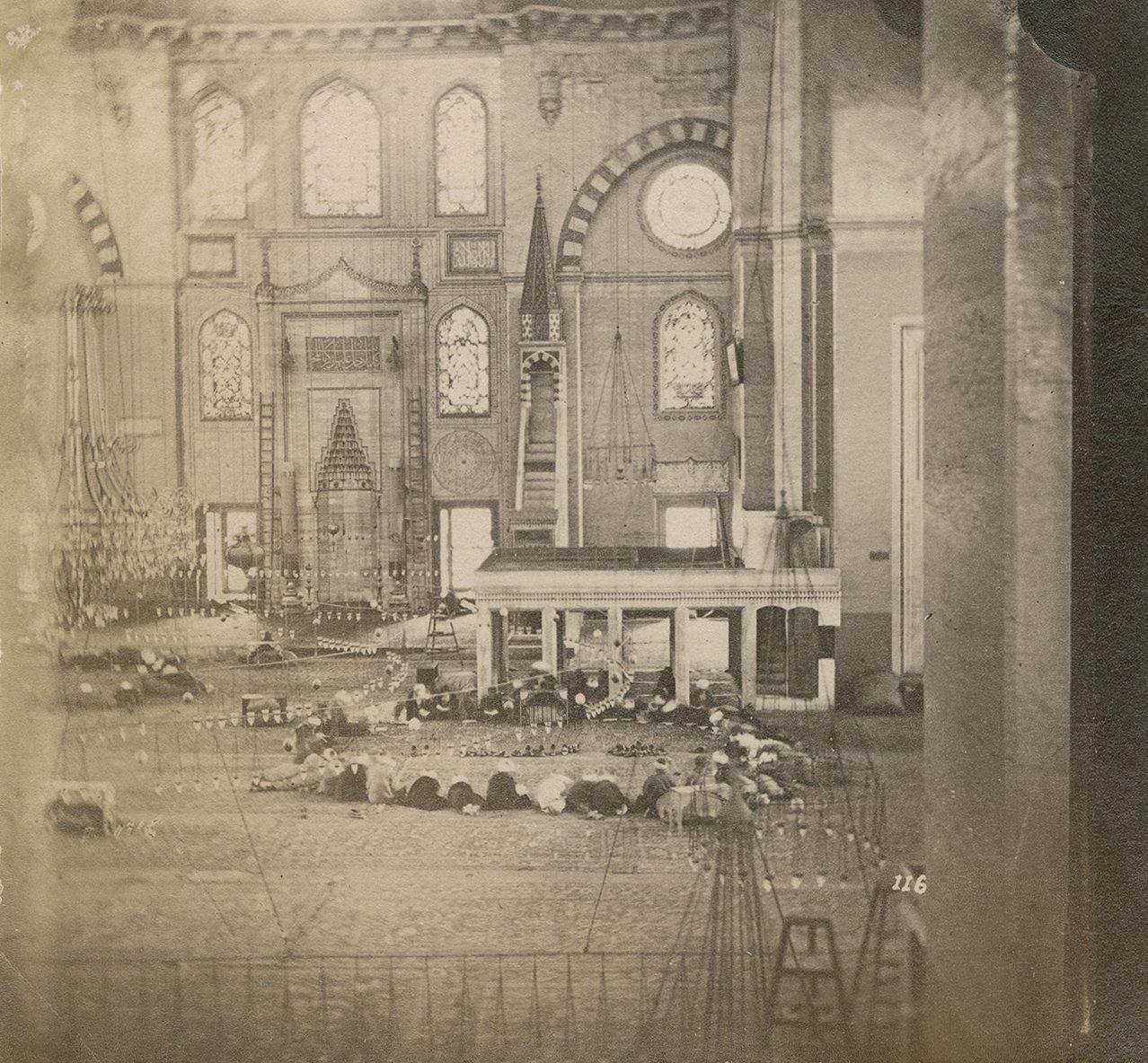 People praying in Hagia Sophia, Istanbul