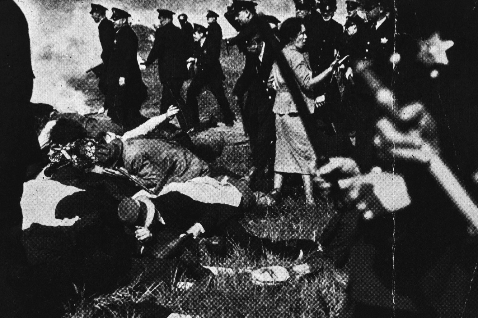 """Memorial Day Massacre Chicago, Ill. Republic Steel plant May 30, 1937"