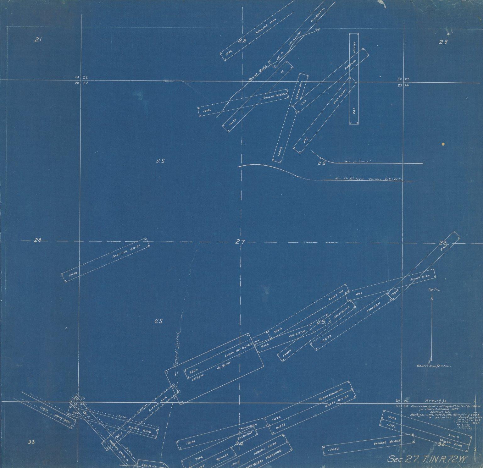Map of Sec.27, T.1N.R.72W.