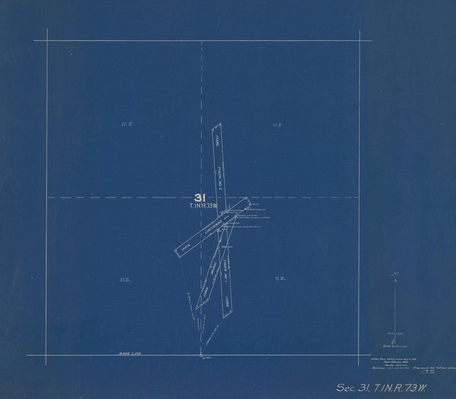 Map of Sec.31, T.1N.R.73W.